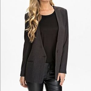 ASOS Selected Femme Gray Julie Long Blazers